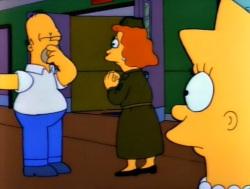 mr lisa goes to washington homernose